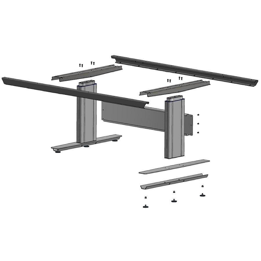Tisch Einzelteile mit Hubsäule